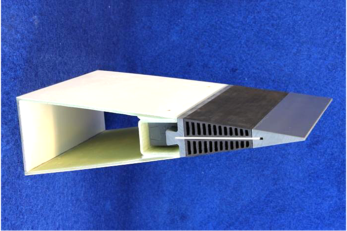 The photo shows an add on - like serrated trailing edges